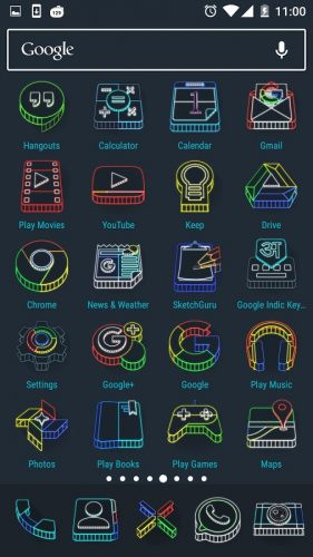 Wireframe 3D Icon Pack apk free