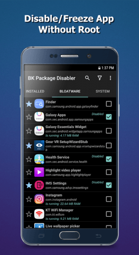 BK Package Disabler Android App Free Download